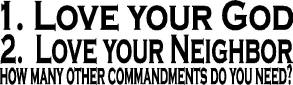 Ten Commandments bumper sticker