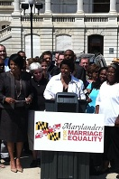 Photo of Marylanders for Marriage Equality rally