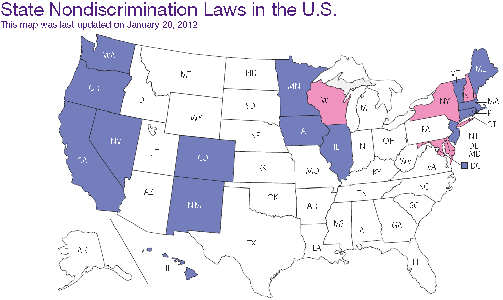 States With Sexual Orientation Discrimination Laws