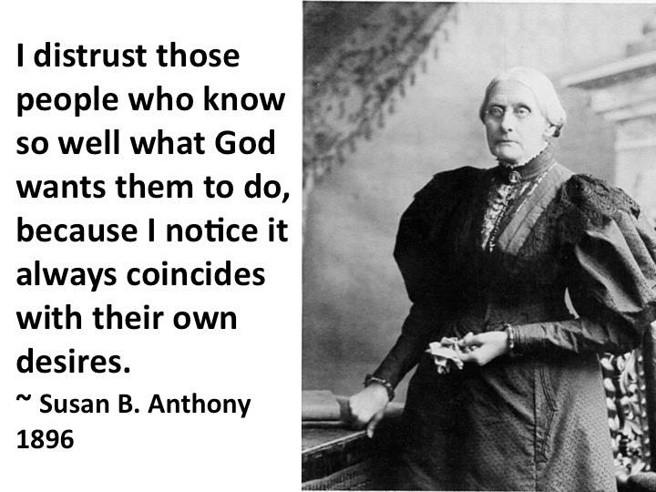 Statement by Susan B.Anthony