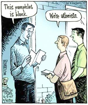 Atheists going door to door