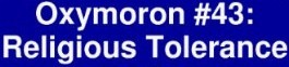 Religious tolerance bumper sticker