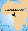 Map of Africa which Cameroon highllighted