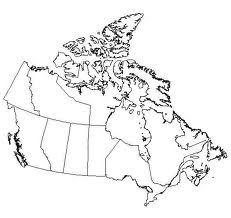 Outline map of Canada
