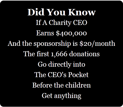 CEO salaries of charities