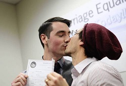 First couple to get wedding license