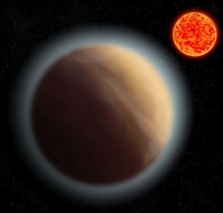 Exoplanet and its sun