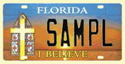 "Florida ""I Believe"" License plate"