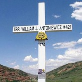 picture of a highway cross memorial