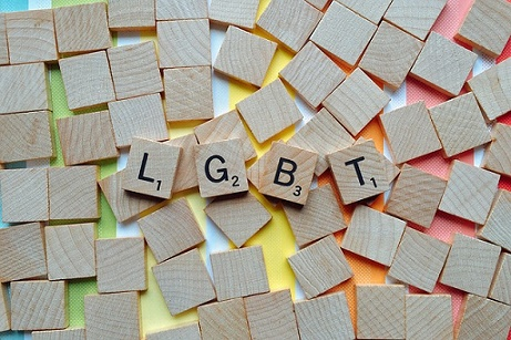 LGBT in scrabble blocks