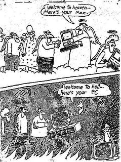 Cartoon comparing Mac with PC computers