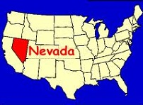 U.S. map highlighting Nevada
