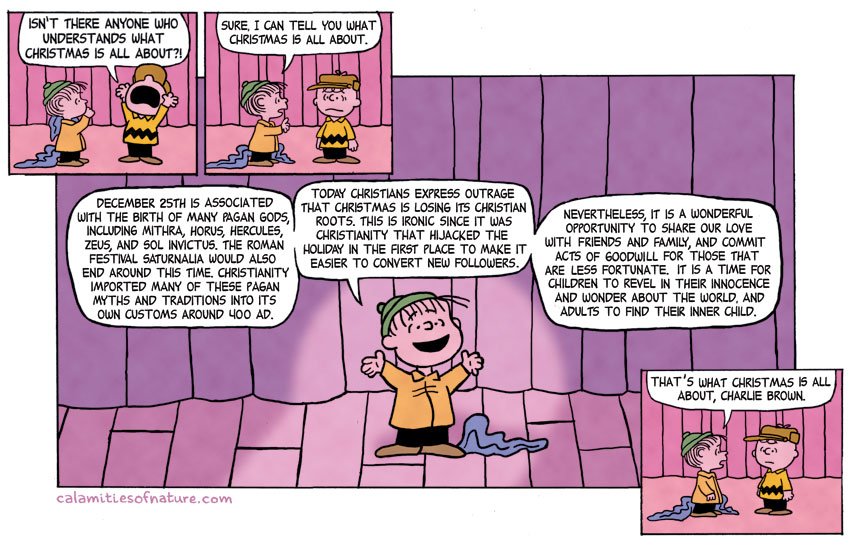 Linus and Charlie Brown comic strip