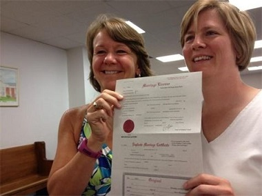 First marriage license in PA to a same-sex couple
