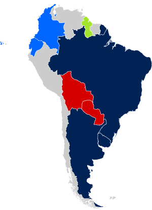 map of SSM status in Central/South America