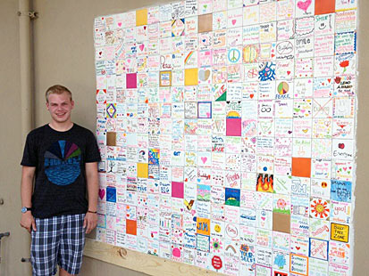 Picture of Ryan and his tolerance wall