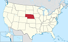 U.S. map with Nebraska highlighted