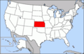 Map of U.S. with Kansas highlighted