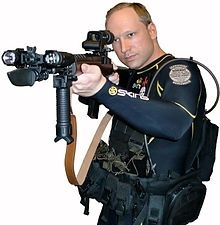 Photo of Breivik in a wet suit