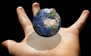 Earth in one's hand