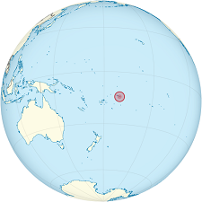 Map of Pacitic Ocean showing American Samoa