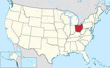 U.S. map of Ohio